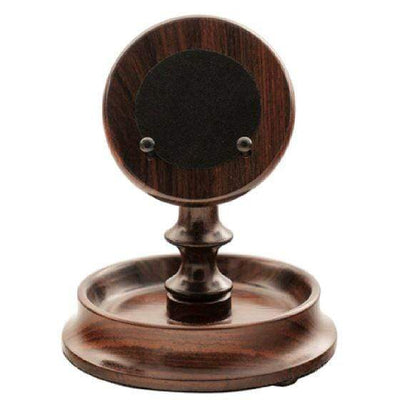 Rapport London Walnut Round Pocket Watch Stand Armadillo Safe and Vault