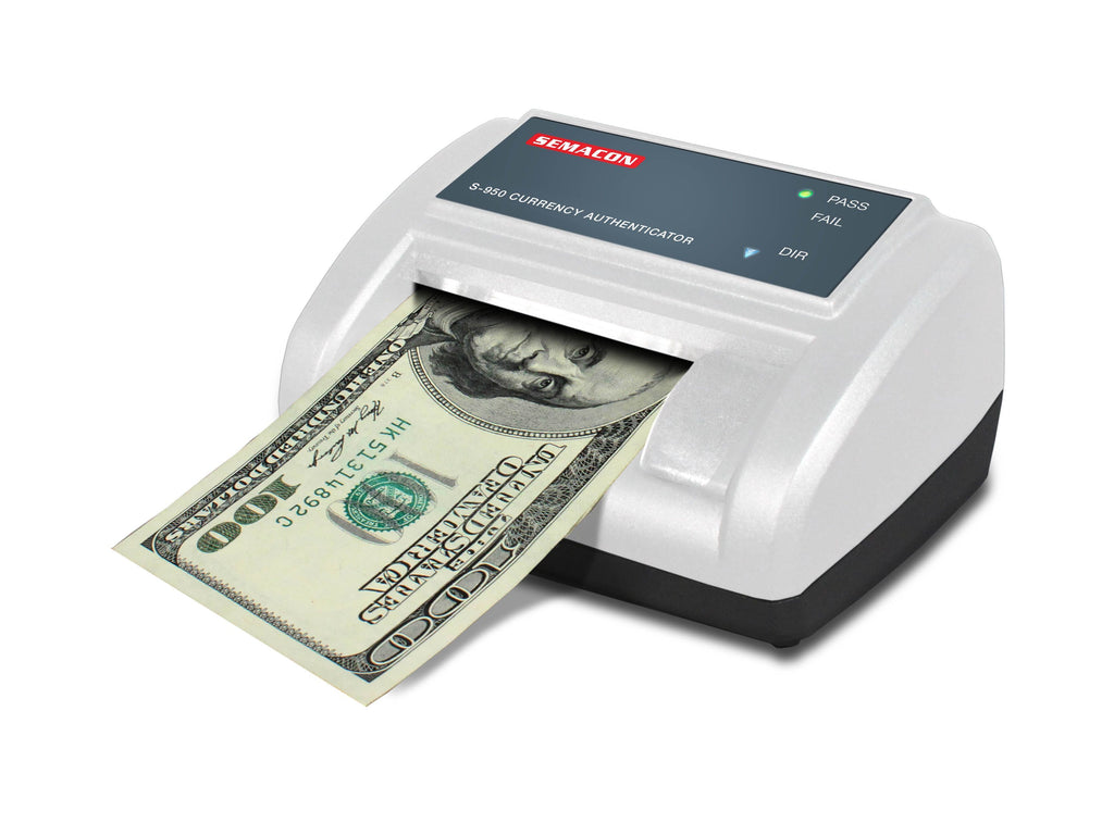 Semacon S-900 Series S-950 Automatic Currency Authenticator / Counterfeit Detector Armadillo Safe and Vault