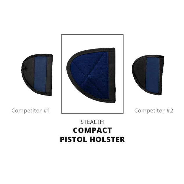 Stealth Compact Velcro Pistol Holster Armadillo Safe and Vault