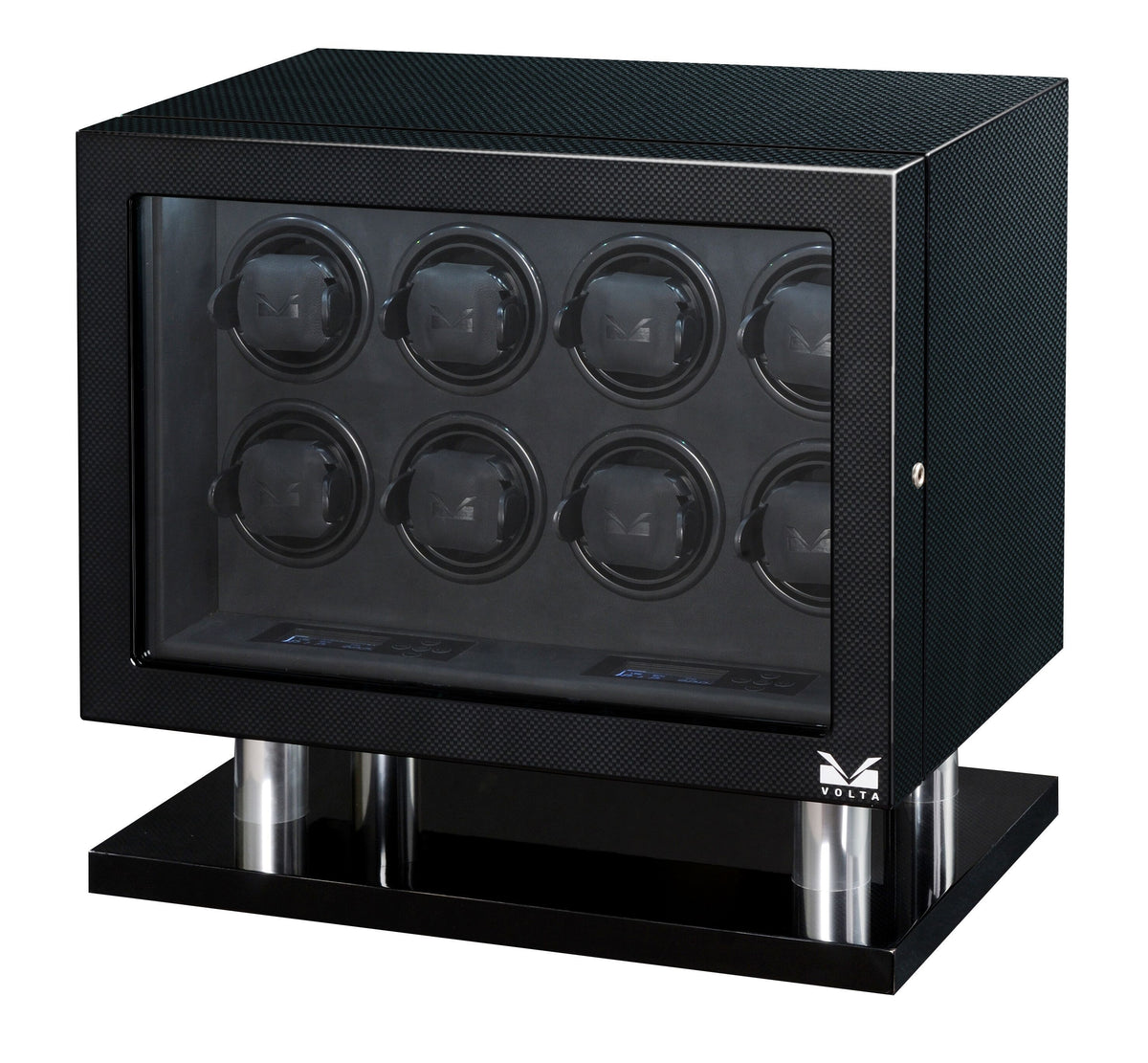 Volta - 31560080 8 Watch Winder Carbon Fiber Armadillo Safe and Vault