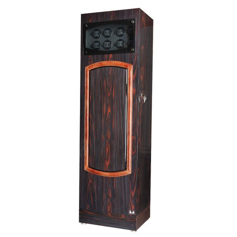 Volta - 31560321 32 Watch Winder Ebony/Rosewood Armadillo Safe and Vault