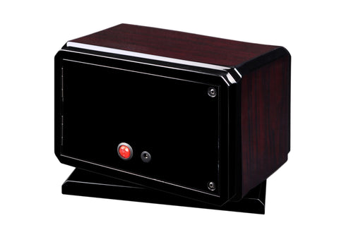 Volta - 31570022 2 Watch Winder With Rotating Base- Rosewood Armadillo Safe and Vault