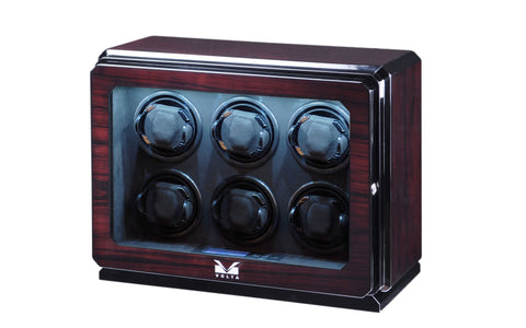 Volta - 31570062 6 Watch Winder- Rosewood Armadillo Safe and Vault