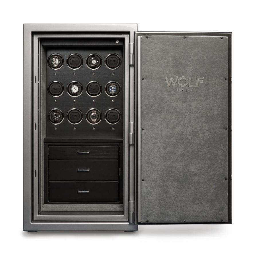 WOLF 1834 Atlas 12 Piece Winder Safe Armadillo Safe and Vault