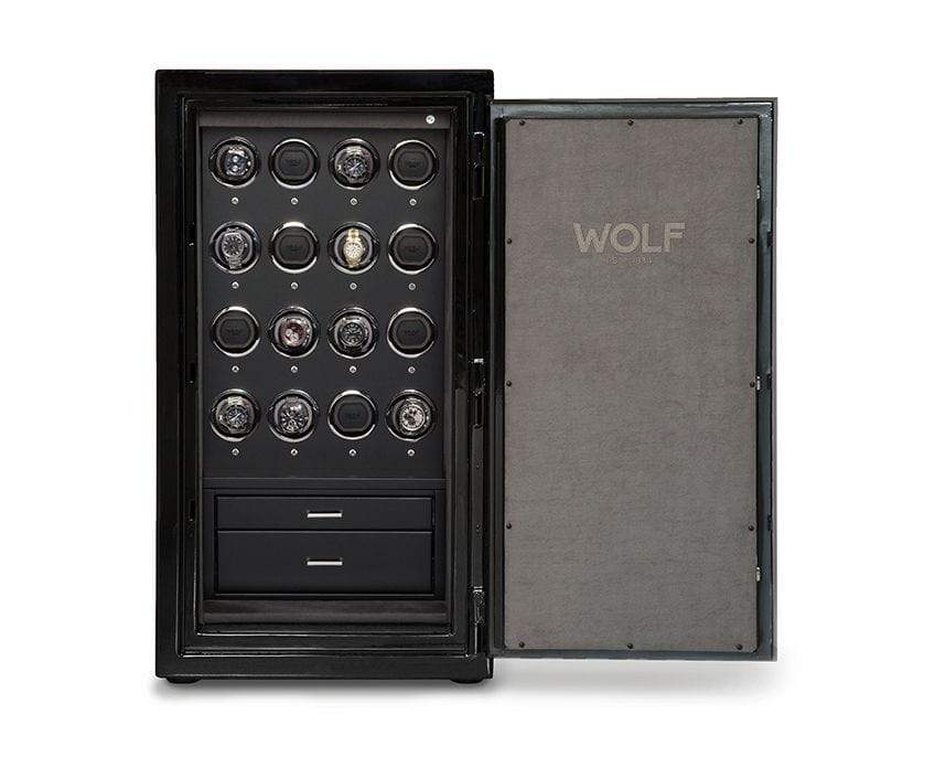 WOLF 1834 Atlas 16 Piece Winder Safe Armadillo Safe and Vault