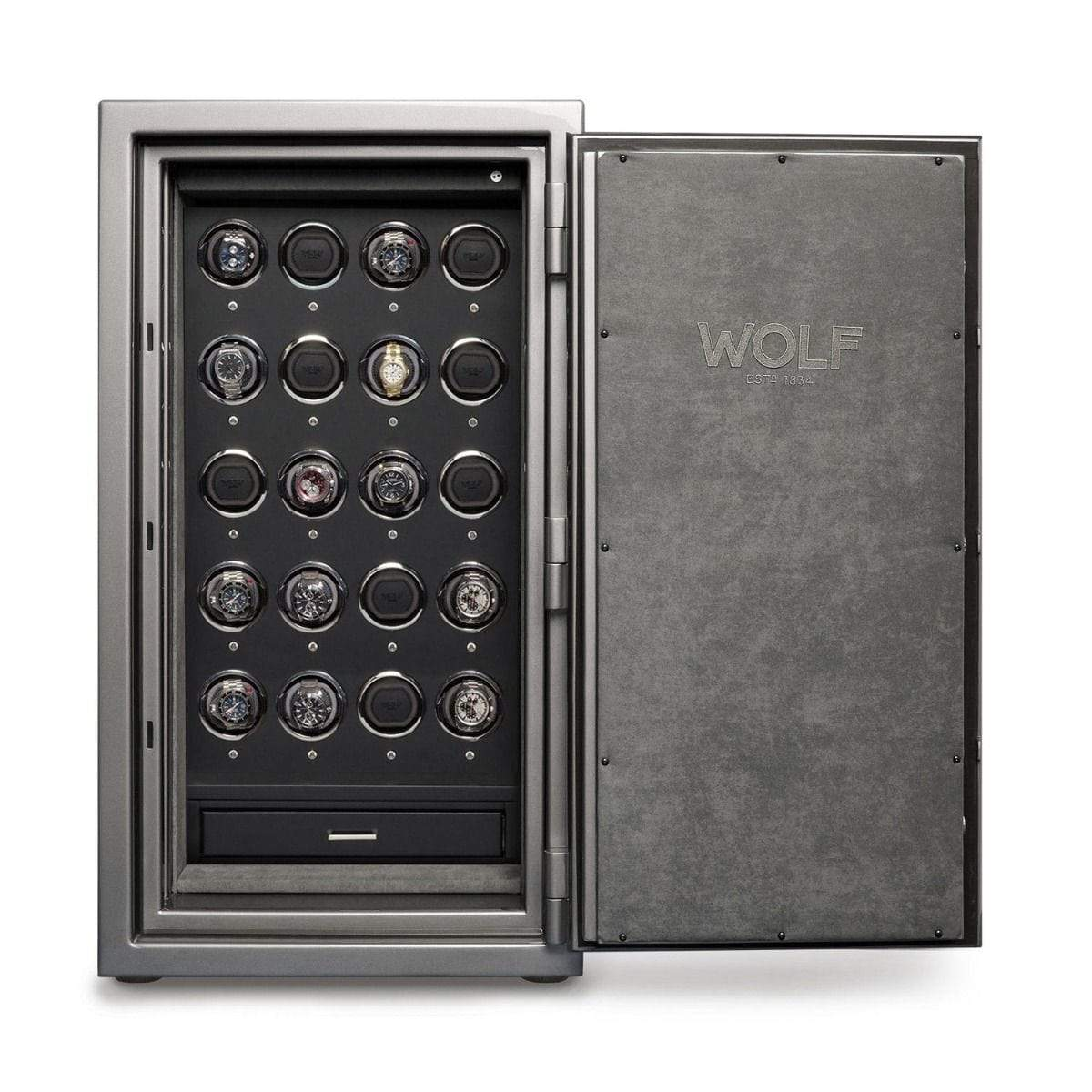 WOLF 1834 Atlas 20 Piece Winder Safe Armadillo Safe and Vault
