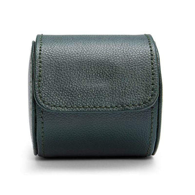 WOLF British Racing Green Single Watch Roll Armadillo Safe and Vault