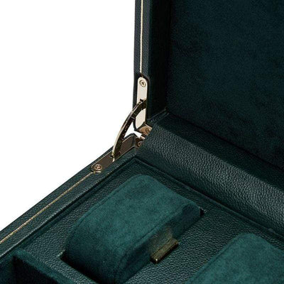 WOLF British Racing Green Single Watch Winder Armadillo Safe and Vault