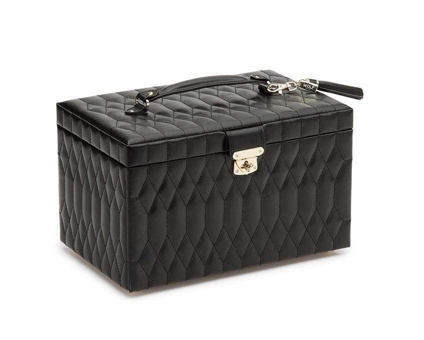 WOLF Caroline Medium Jewelry Case Armadillo Safe and Vault