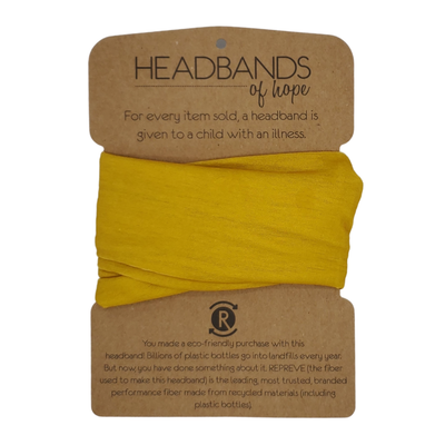 Headbands of Hope - Solid Mustard Recycled Tube Turban