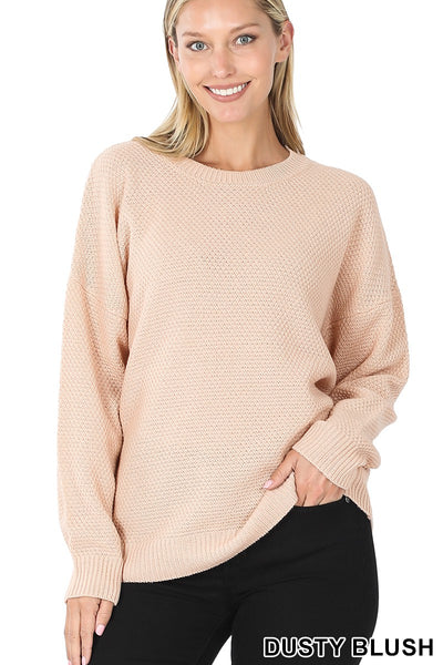 Dusty Blush Round Neck Sweater