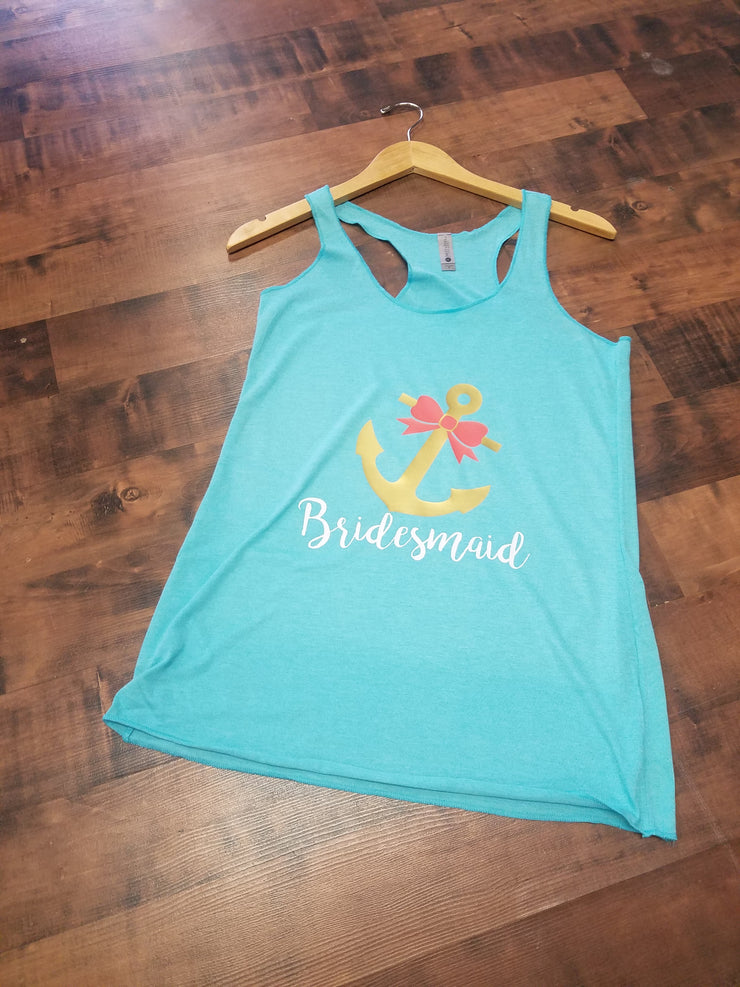 Nautical Bridesmaid Tank Top