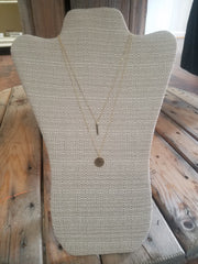 14 Karat Gold Filled Necklaces - Small Bar