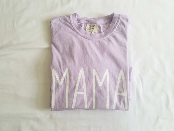 Simple Sayings Mama Comfort Colors Short Sleeve Shirt