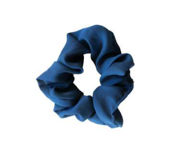 Headbands of Hope - Scrunchie Navy Solid