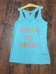 Mermaids have more fun Ladies Racerback Tank Top
