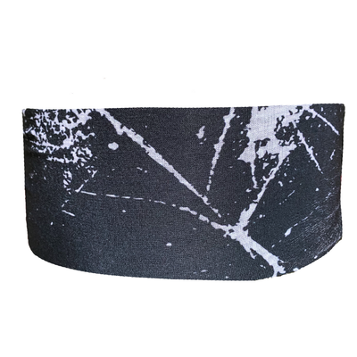 Headbands of Hope - Black Marble Tube Turban