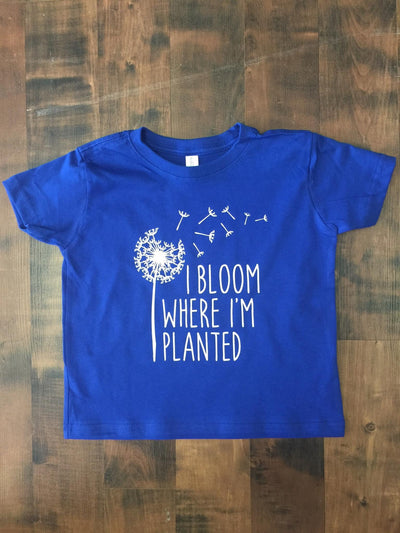 """I Bloom Where I'm Planted"" Toddler Military Child Graphic T-shirt"