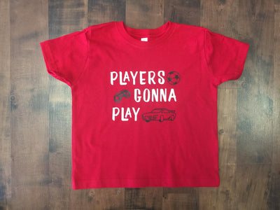 """Players Gonna Play"" Toddler Graphic T-shirt"