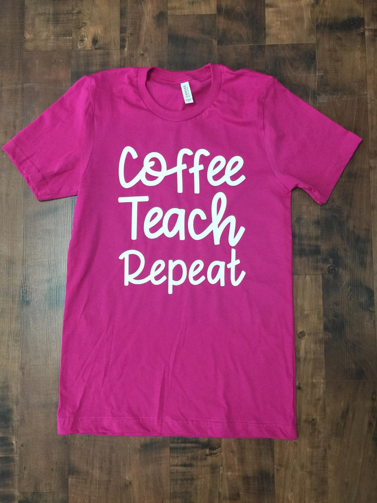 Coffee Teach Repeat Graphic T-shirt