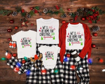 Family Quarantine Christmas Shirts