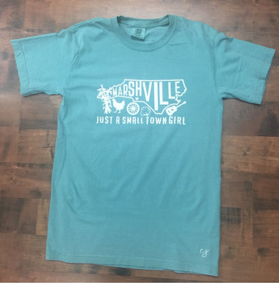 Just a Small Town Girl - Marshville, NC Comfort Colors T-Shirt