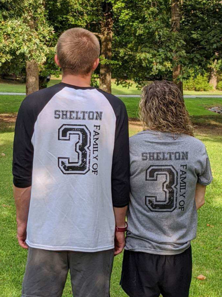 Adult Raglan T-Shirt - Shelton Adoption Fundraiser