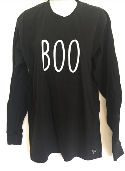 Boo Halloween Simple Sayings Long Sleeve T-Shirt