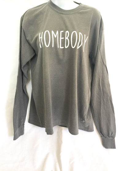 Homebody Simple Sayings Long Sleeve Comfort Colors Shirt