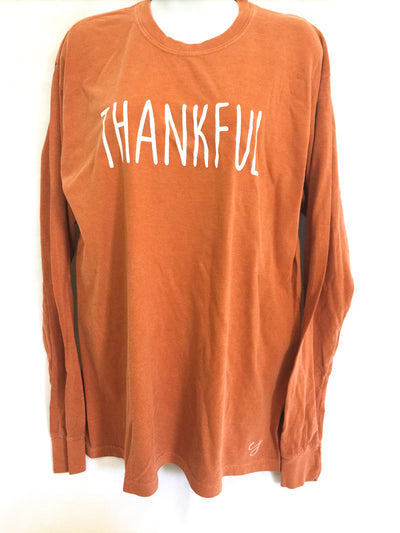 Thankful Simple Sayings Long Sleeve Comfort Colors Shirt