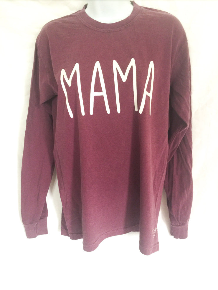 Mama Simple Sayings Long Sleeve Comfort Colors Shirt