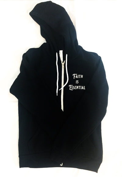 Faith is Essential Zip up Hoodie