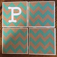 Chevron Set of 4 Coasters