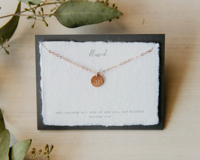 Dear Heart Designs - Blessed 14kt Rose Gold Fill