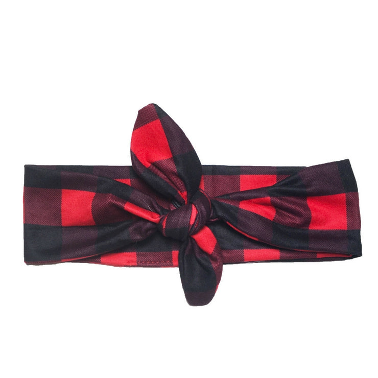 Headbands of Hope - Knotted Red Plaid