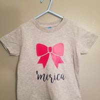 Merica Bow Infant T-Shirt