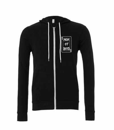 Mom of Boys - Queen of Her Castle Zip up Hoodie
