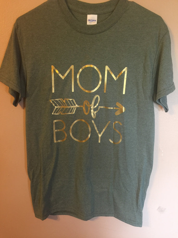 Ladies Mom of Boys T-shirt