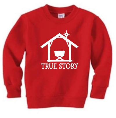 True Story Christmas Manger Toddler/Juvy Fleece Sweatshirt