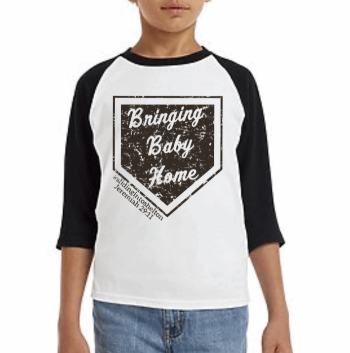 Youth Raglan T-Shirt - Shelton Adoption Fundraiser