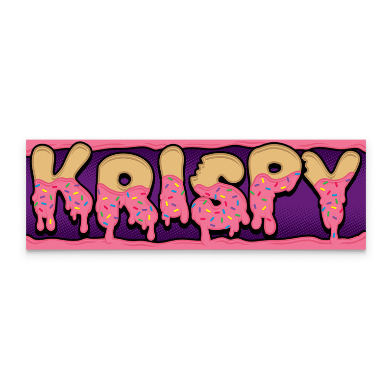 Box Sticker - Pink Krispy Drip