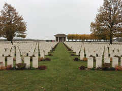 CWGC maintained WW1 Heath Cemetery near Harbonniers, northern France