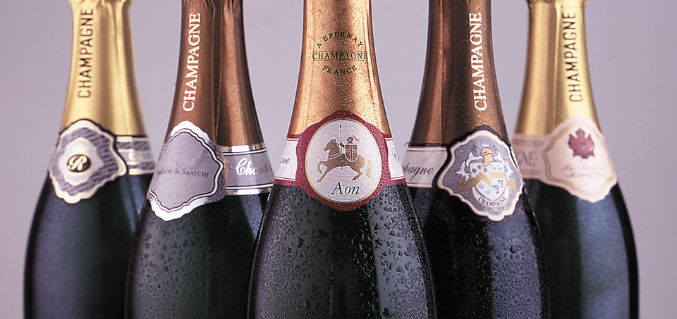 corporate champagne | 5 bottles with labels