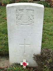 Philip LeComber's war grave in Heath Cemetery near Harbonniers, France