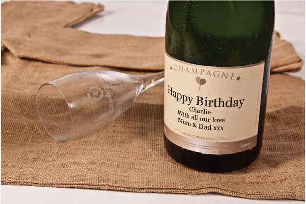 Personalised bottle of birthday champagne