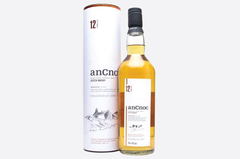 Personalised anCnoc speyside 12 year old malt whisky bottle gift