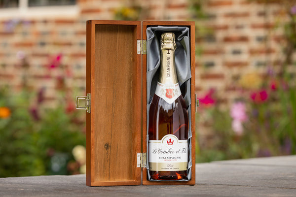 Personalised Rose Champagne with Luxury Box