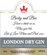Personalised Gin Label