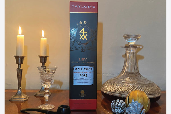 Taylor's Late Bottled Vintage 2015 Port personalised by Park Lane Champagne