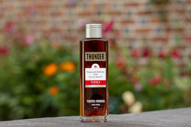 personalised toffee vodka | Thunder Toffee Vodka